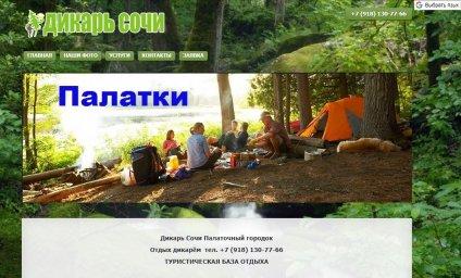 Сайт визитка Дикарь Сочи